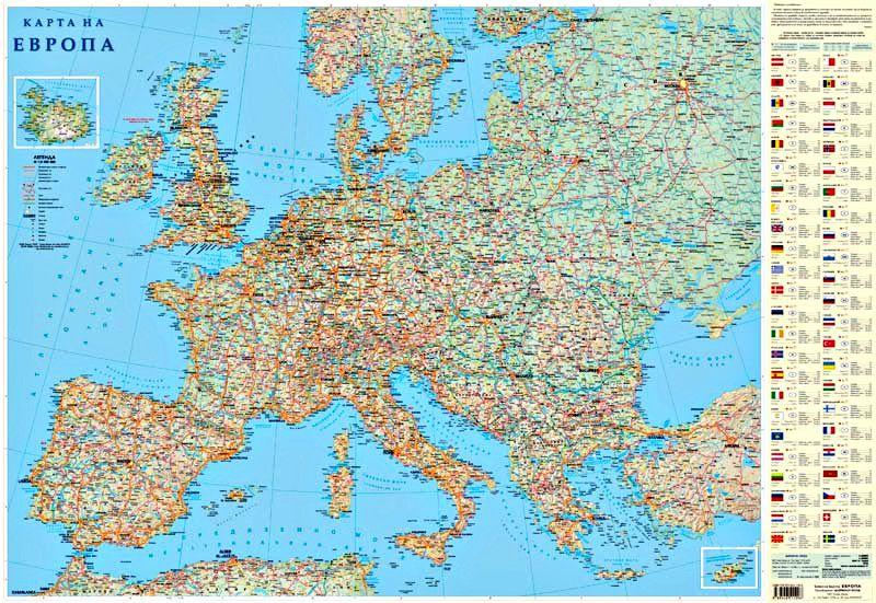 Store Bg Stenna Karta Na Evropa M 1 4 500 000