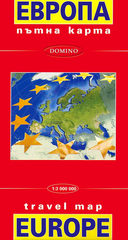 Store Bg Ptna Karta Na Evropa Travel Map Of Europe M 1 3