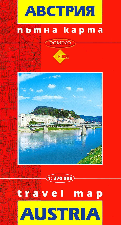 Store Bg Ptna Karta Na Avstriya Travel Map Austria M 1 370 000