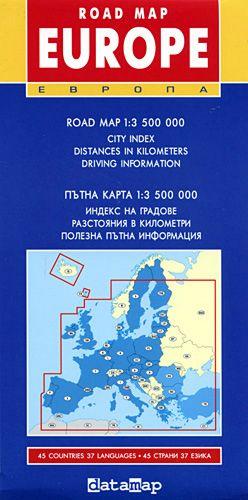Store Bg Ptna Karta Na Evropa Mnogoezichna M 1 3 500 000