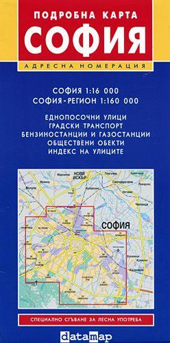 Store Bg Podrobna Karta Na Sofiya I Regiona M 1 16 000