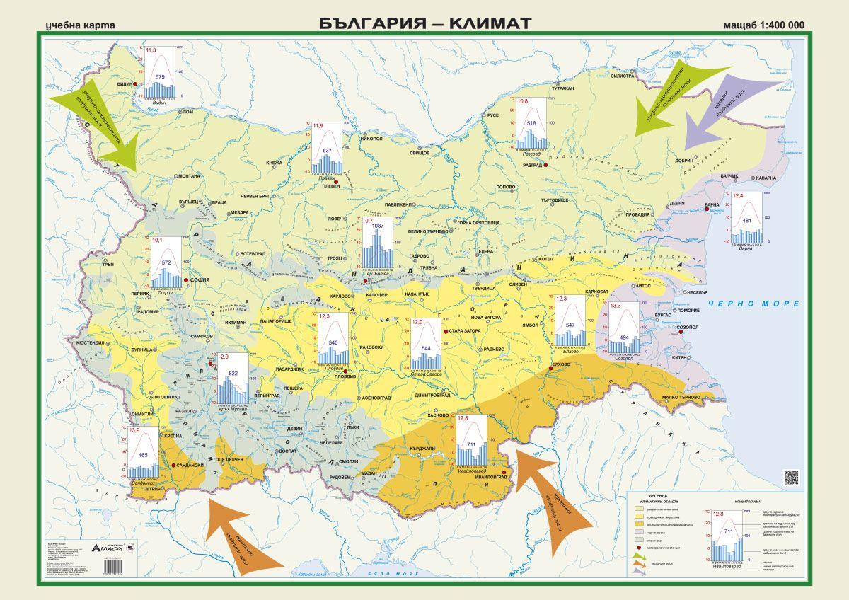 Store Bg Stenna Karta Blgariya Klimat M 1 400 000