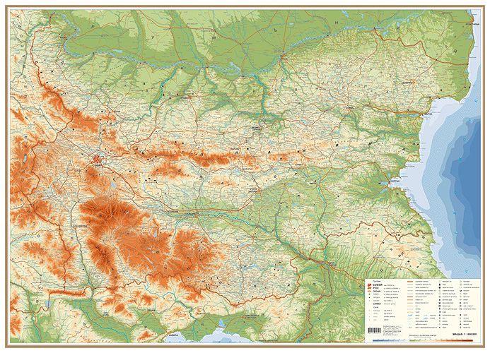 Store Bg Blgariya Obshogeografska Karta Stenna Karta M 1