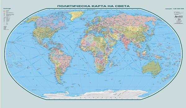 Store Bg Sveta Politicheska Karta Stenna Karta M 1 25 000 000