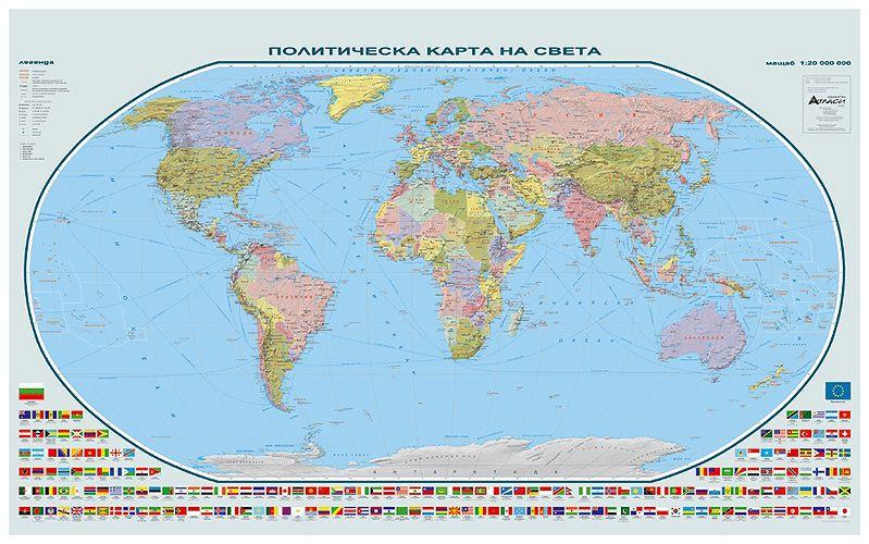 Store Bg Svett Politicheska Karta Stenna Karta M 1 35 000 000
