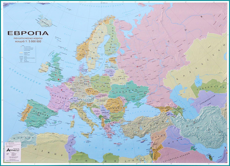 Store Bg Evropa Politicheska Karta Stenna Karta M 1 5 000 000