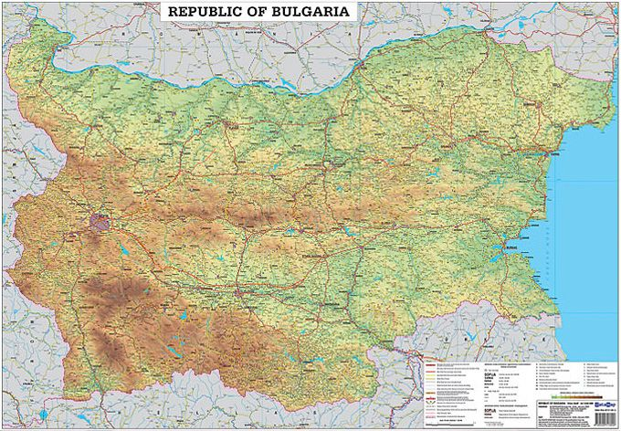 Store Bg Stenna Ptna Karta Na Blgariya Na Latinica M 1 530 000
