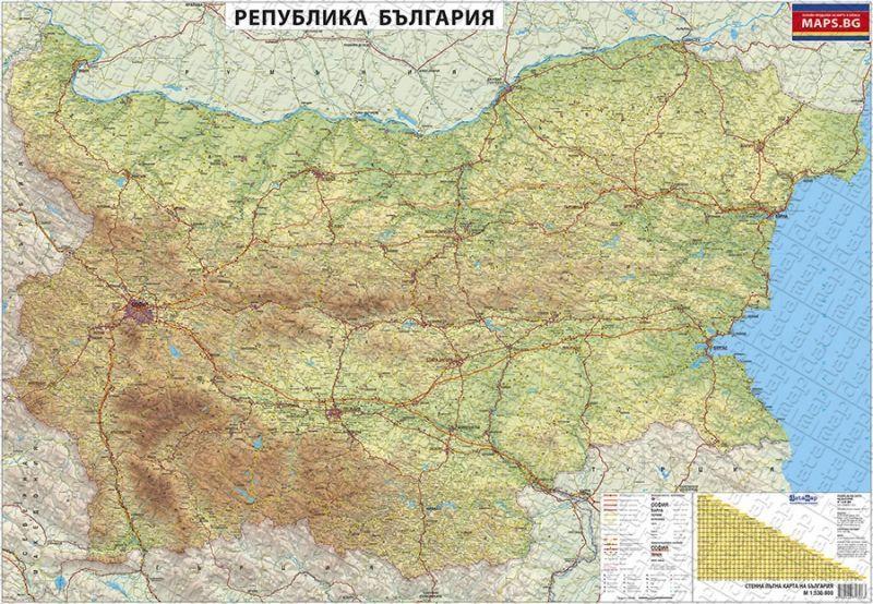 Store Bg Stenna Ptna Karta Na Blgariya M 1 530 000