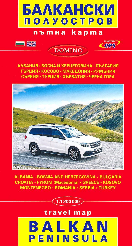 Store Bg Ptna Karta Na Balkanski Poluostrov Travel Map Balkan