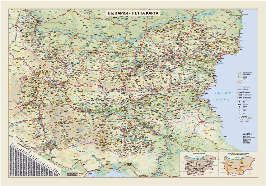 Store Bg Blgariya Ptna Karta Stenna Karta M 1 400 000