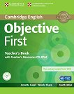 Objective - First (B2): Книга за учителя + CD : Учебен курс по английски език - Fourth edition - Annette Capel, Wendy Sharp -