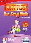 Playway to English - ниво 4: Книга с материали за учителя по английски език + CD : Second Edition - Herbert Puchta, Gunter Gerngross, Megan Cherry, Garan Holcombe -