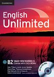 English Unlimited - Upper-Intermediate (B2): Комплект по английски език Combo A - част 1 + 2 DVD-ROM - Alex Tilbury, Leslie Anne Hendra, David Rea, Theresa Clementson, Rob Metcalf, Chris Cavey, Alison Greenwood - помагало