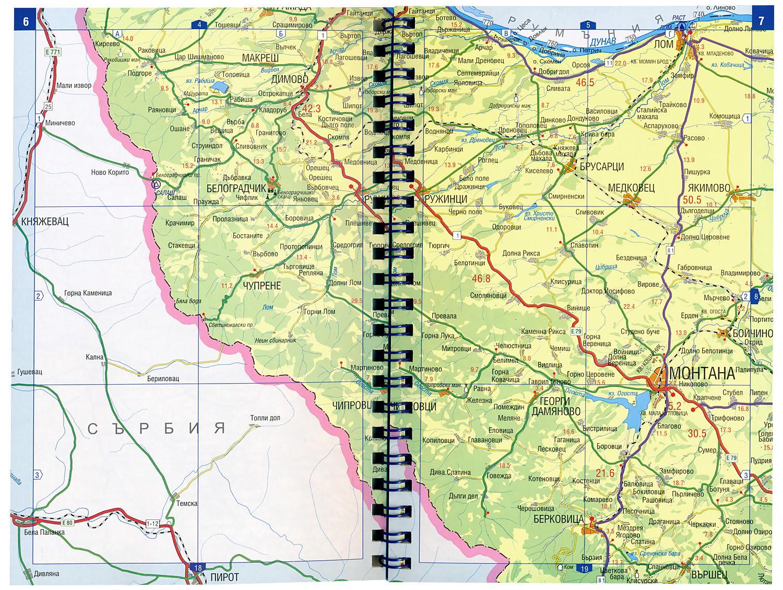 Store Bg Pten Atlas Na Blgariya Ptna Karta M 1 400 000