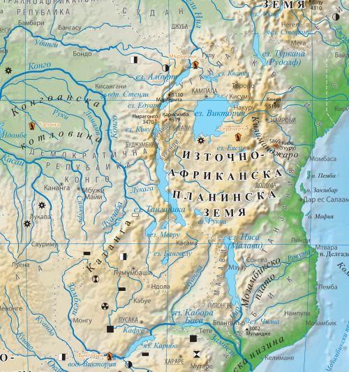 Karta 2019 Prirodna Karta Na Afrika