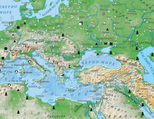 Karta 2019 Relefna Karta Na Evropa