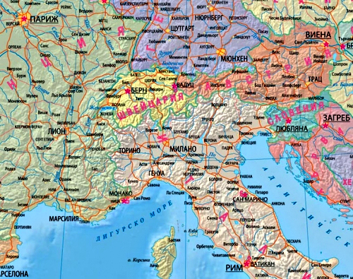 Karta 2019 Ptna Karta Na Evropa S Razstoyaniya