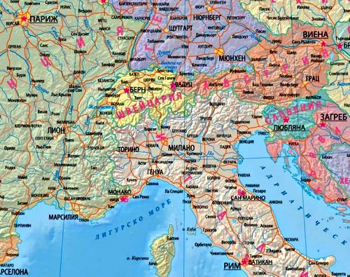 Karta 2019 Podrobna Ptna Karta Na Evropa