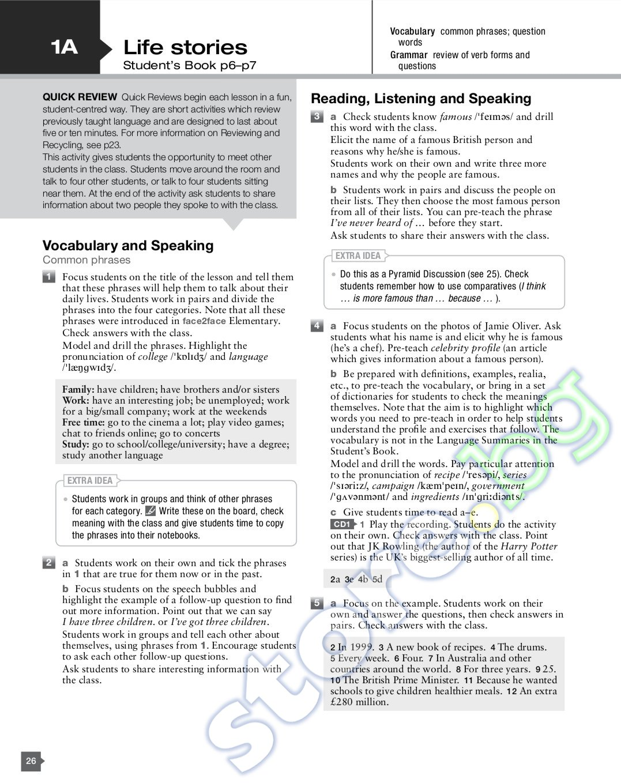 face 2 face pre-intermediate teacher's book