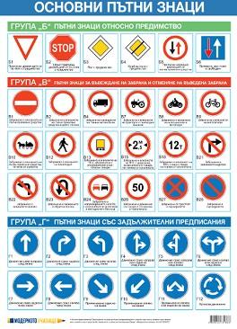 store.bg - Учебно табло: Основни пътни знаци регалия